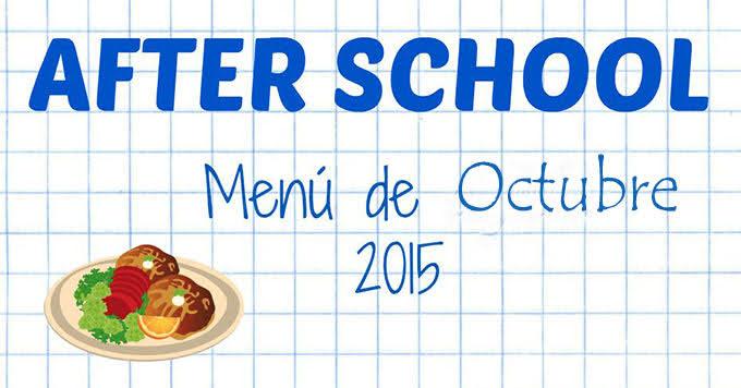 AFTER SCHOOL - OCTUBRE 2015