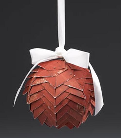 Bola de natal com dobradura de papel