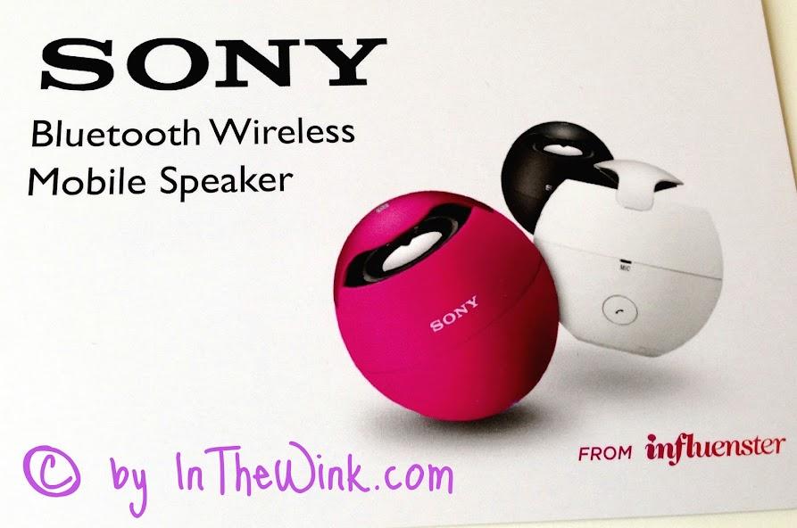 Influenster: Sony Bluetooth Wireless  Mobile Speaker