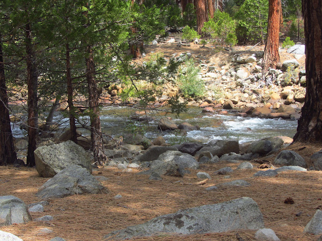 the Kern River flowing along