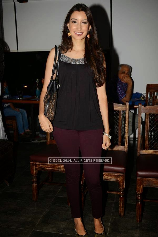 Sana during the launch of Eat India Company - Kitchen and Bar, in Hyderabad.