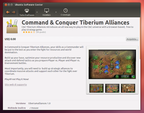 Ubuntu Software Center  - Command & Conquer Tiberium Alliances