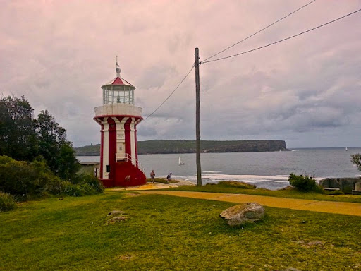 The South Head lighthouse, looking across the Heads to North Head. From Walking Sydney: North Bondi to South Head