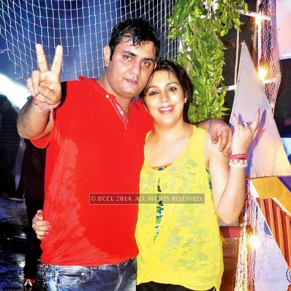 Prateek and Komal during a rain dance party in Kanpur.