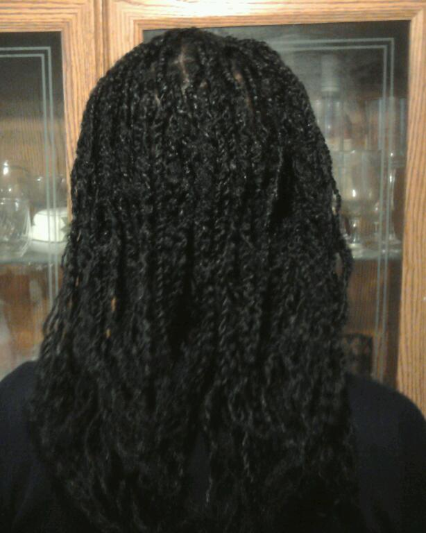 FOOT-LONG-HAIR: Kinky Twists on Relaxed Hair