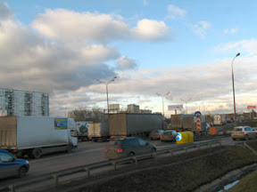 Московская кольцевая автодорога в ноябре 2012 г.