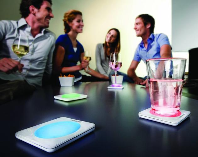 *飛利浦LED彩色變色杯墊:PHILIPS LUMIWARE LED Color Changing Coasters ! 3