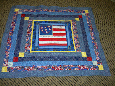 Patriotic Heartstrings Quilting Project