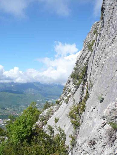 De jolies dalles calcaires qu'on rêve d'escalader !