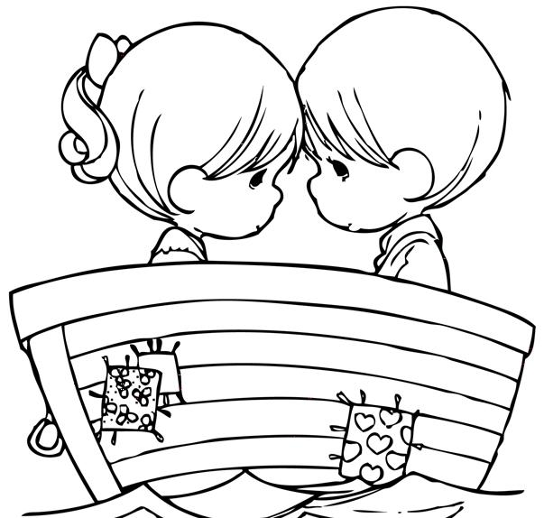 Bau Da Web Desenhos De Namorados Para Pintar