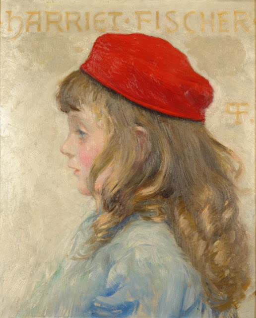 Paul Gustave Fischer - Harriet Fischer, in profile