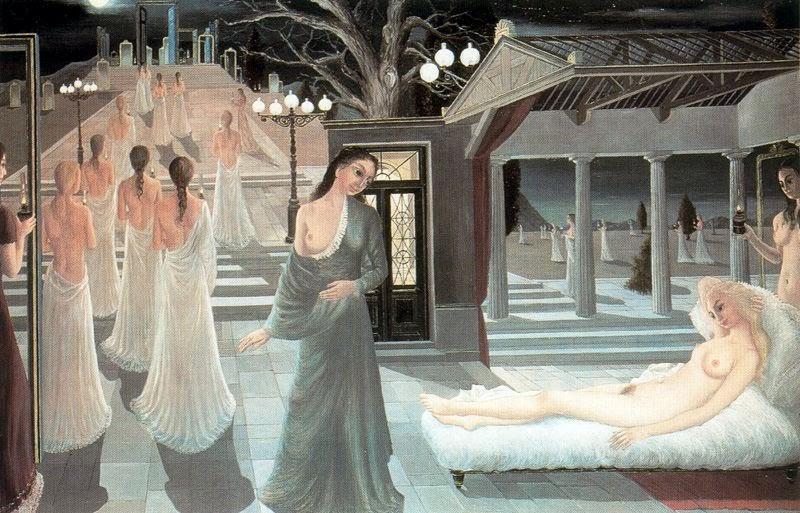 Paul Delvaux - Acropolis, 1966