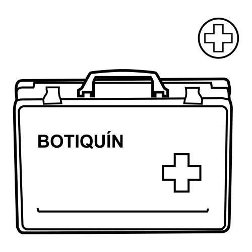 Botiquin de primeros auxilios para colorear