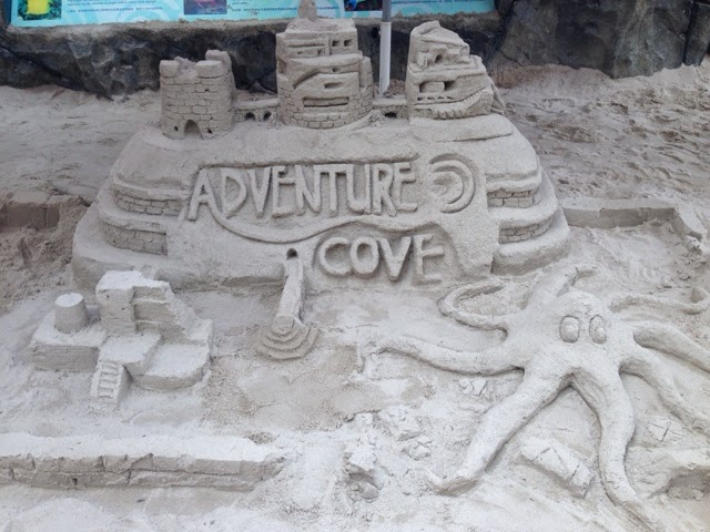 Sand Sculpture in Adventure Cove Singapore