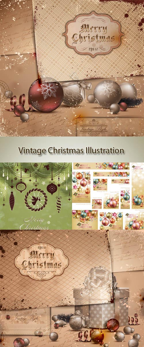 Stock: Vintage Christmas Illustration 13