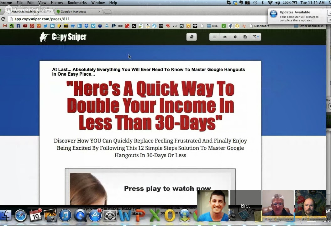 Copy Sniper Review Sales Page HangoutsMadeEasy
