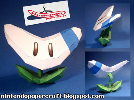Super Mario 3D Land Papercraft Boomerang Flower