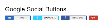 指定した URL のソーシャルボタンを表示する
