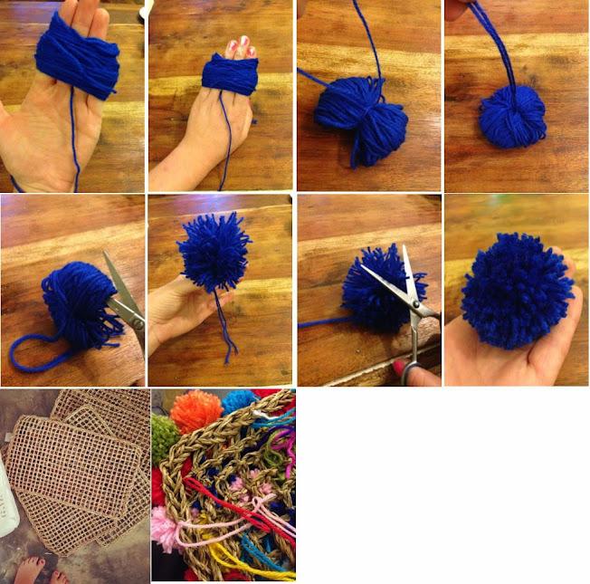 Como hacer una alfombra con pom pom para mis hijos una - Como hacer una alfombra de lana ...