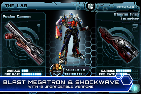 Transformers Dark Of The Moon for iphone game