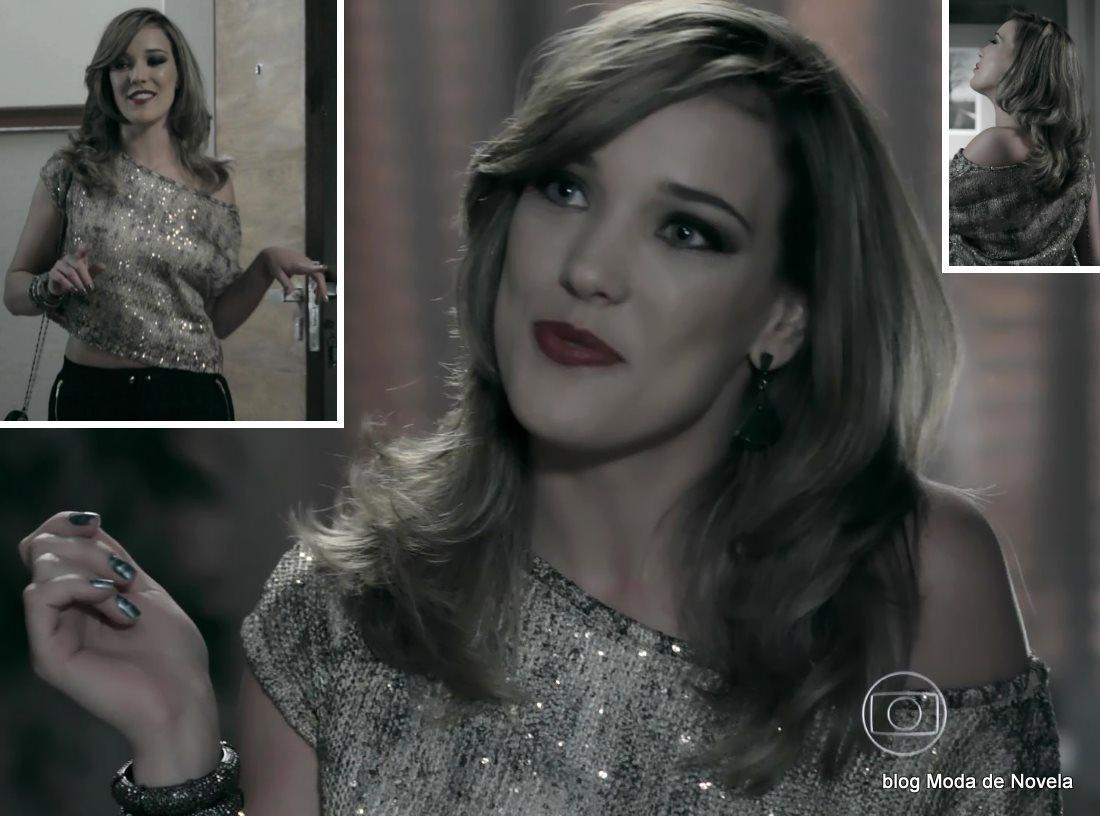 moda da novela Império, look da Amanda dia 17 de outubro