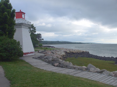 Mini Lighthouse, Annapolis Royal seafront on Bay of Fundy