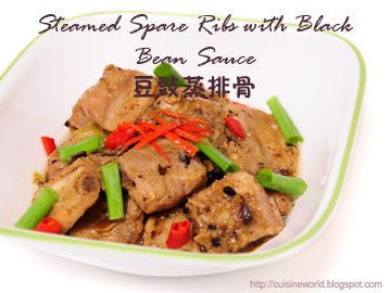 Steamed Spare Ribs with Black Bean Sauce