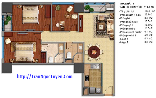 Bán chung cư Times City T1 T4 110.3m2