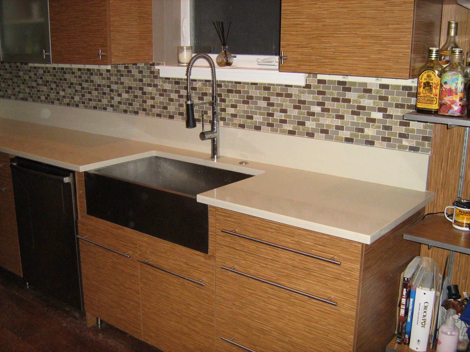 Glass And Stone Kitchen Backsplash