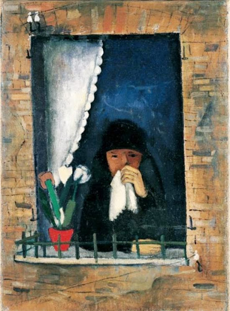 Felix Nussbaum - Grief (Widow at the window)