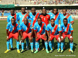 l'équipe nationale de la RDC le 24/03/2013 au stade de Martyrs à Kinshasa, lors du match nul contre la Lybie. Radio Okapi/Ph. Apollinaire Mat