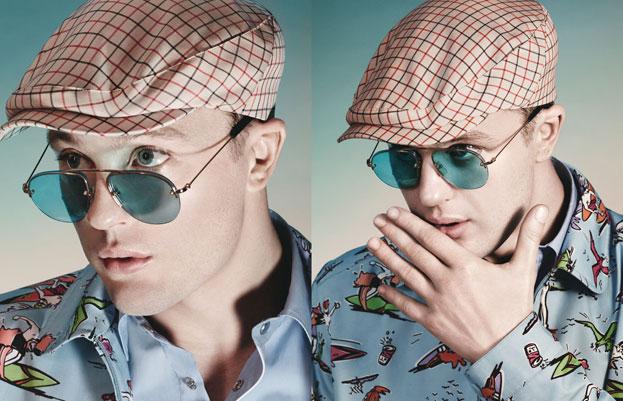 fca13da3c93f Prada Eyewear Fashion Campaign Spring-Summer 2012 with Michael Pitt