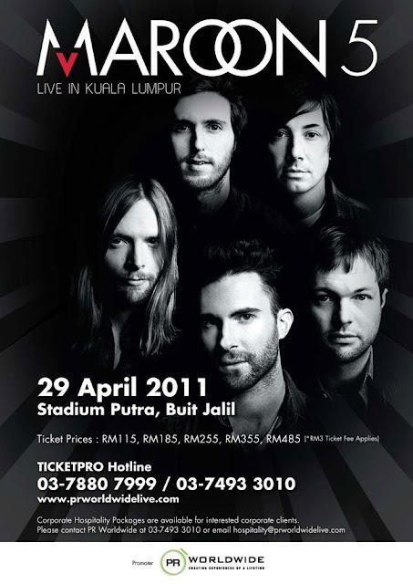 Maroon 5 Live in Malaysia