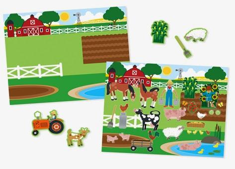 Lựa chọn những miếng sticker phù hợp với bức tranh nông trại