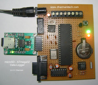 Data Logger with MicroSD card