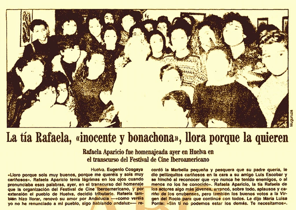 Entrevista a Rafaela Aparicio en 1989. (Hemeroteca ABC Sevilla)