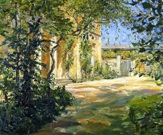Max Slevogt - Country House in Godramstein - Entrance to the Villa