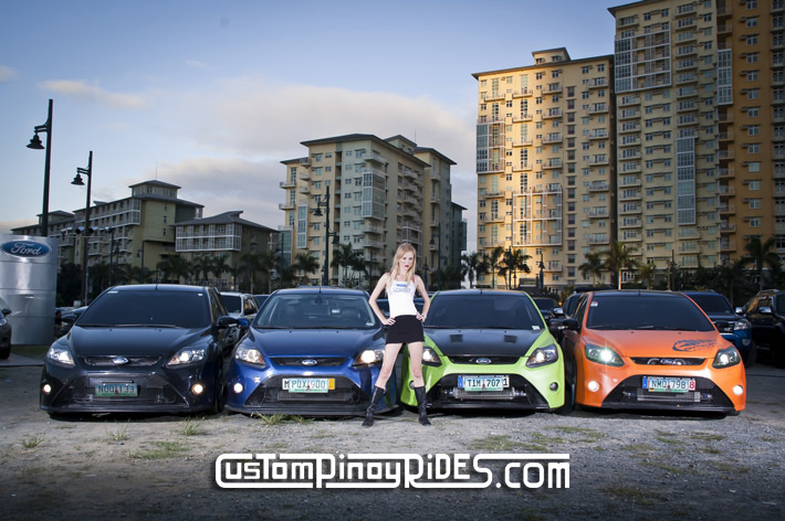 ANNA MASHKOVSKAYA and the FORD FOCUS RS QUADRUPLETS Custom Pinoy Rides pic1