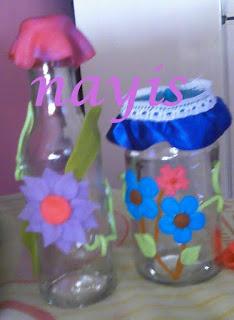 Kositas nayis envases de vidrio decorados con masa flexible for Envases de vidrio decorados