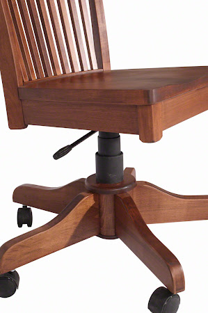 Lancaster Office Swivel Chair with Casters, in Royal Maple