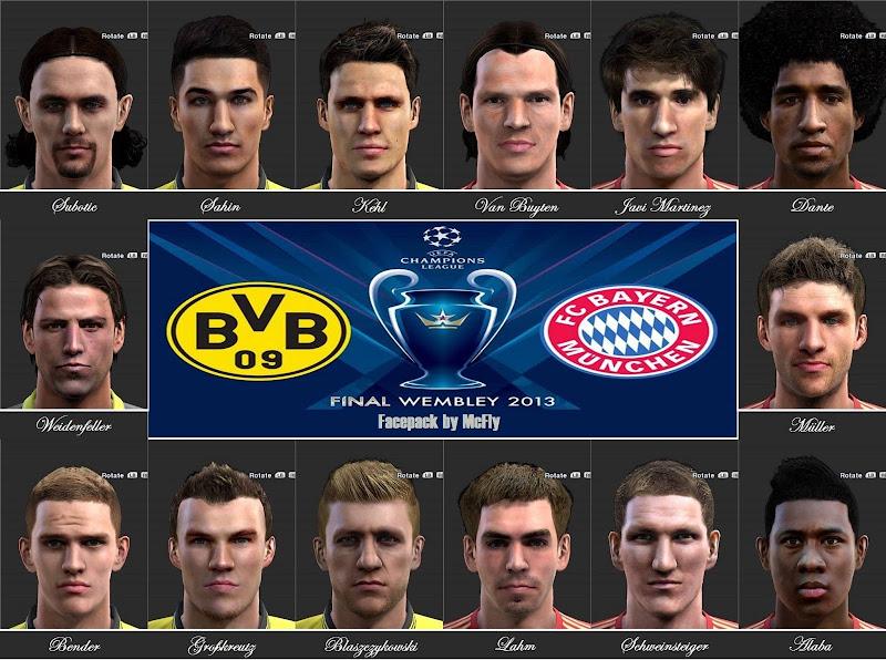 Facepack Final da Liga dos Campeões - PES 2013