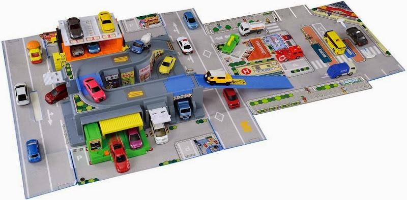 Sa hình bãi đỗ ô tô Map Pop-Up gồm nhiều mô hình 3D