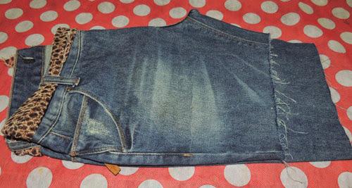 Customizando - calça jeans em short