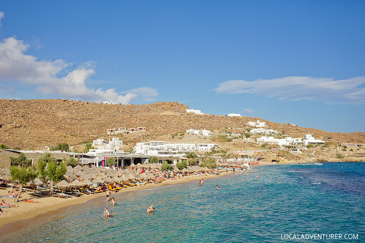 Paradise Beach Mykonos Greece (Best Beach in Mykonos).