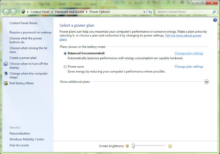 cara menjaga agar laptop tetap hidup ketika ditutup power option