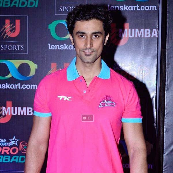 Kunal Kapoor during the opening match of Pro-Kabbadi League, held in Mumbai, on July 26, 2014. (Pic: Viral Bhayani) <br />