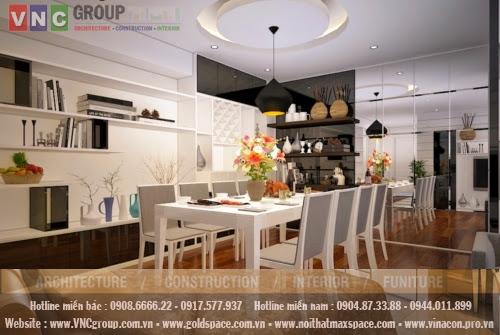 pkhach22 Thiết kế nội thất chung cư Golden Place căn hộ B2 diện tích 118m2