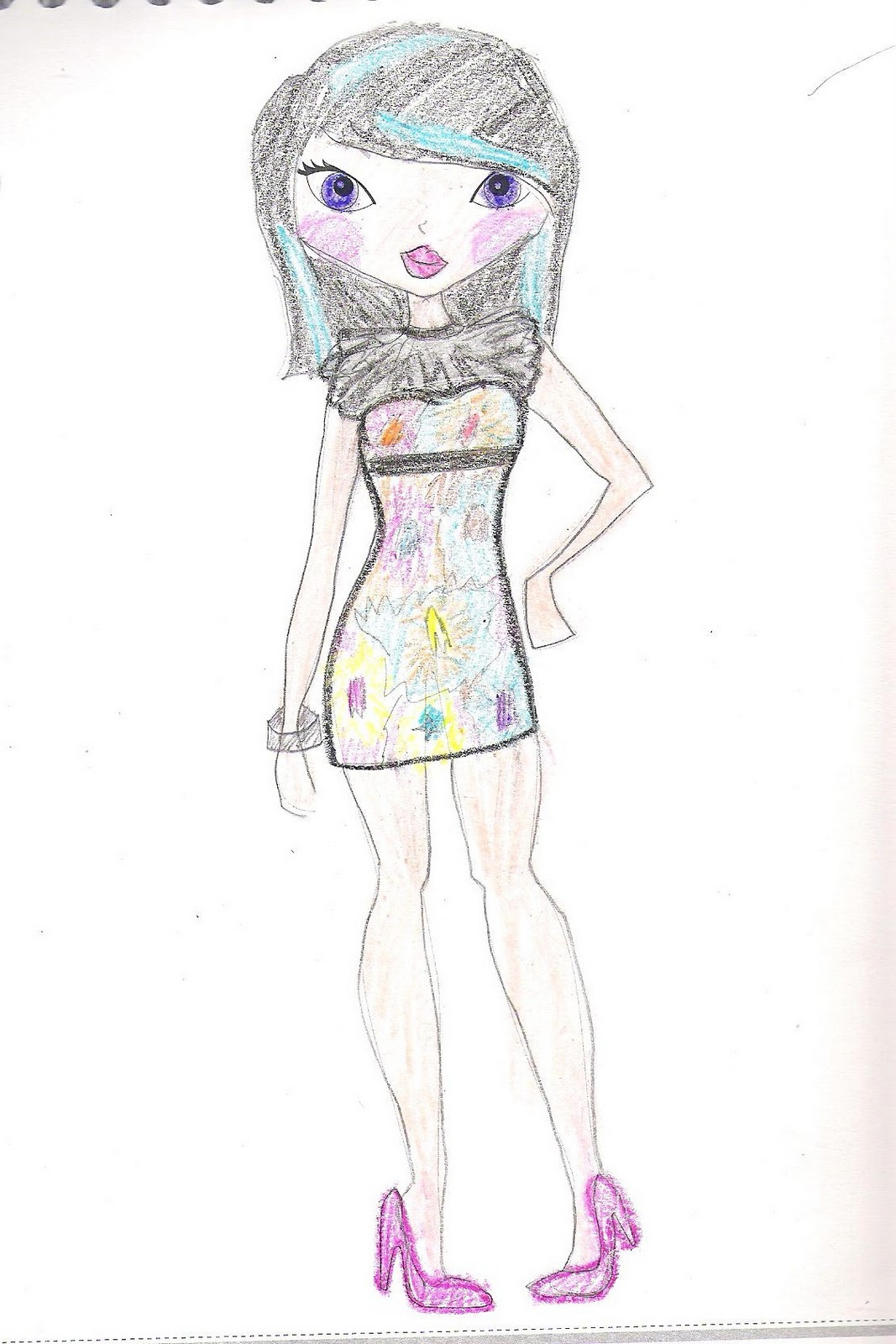 magical moments fashion design sketches made by me