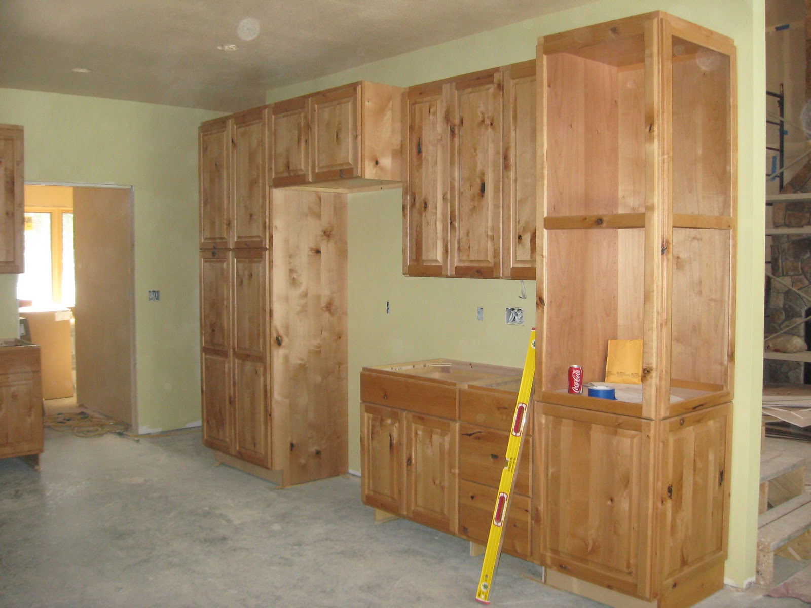 Kitchen Pantry Cabinets with Wine Rack