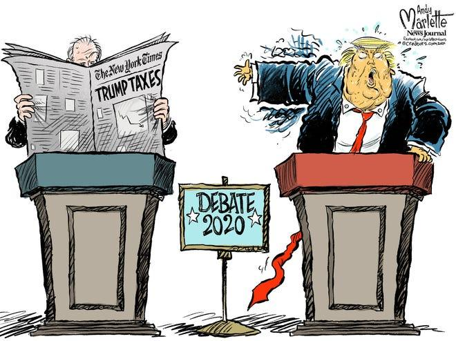 Marlette cartoon: The Trump/Biden presidential debate